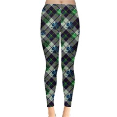 Shamrock Check Leggings  by CoolDesigns