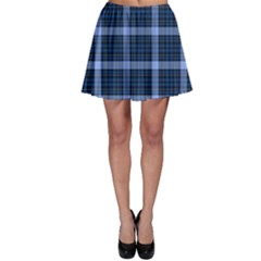 Black & Blue Tartan Plaid Pattern Skater Skirt