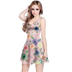 Colorful6 Floral Sleeveless Skater Dress