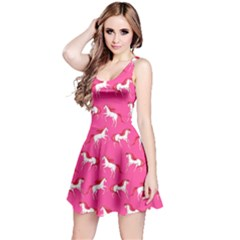 Hot Pink Unicorn Seamless Sleeveless Skater Dress