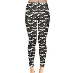 Black Halloween Pattern Leggings