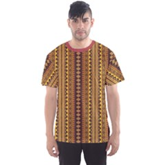 Brown African Geometric Ornament; Men s Sport Mesh Tee by CoolDesigns