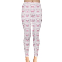 Pink Cute Pig Pattern With Pink Pig Faces Women s Leggings