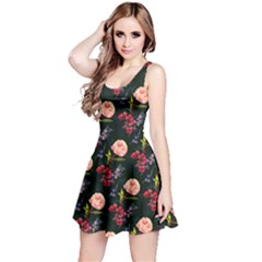 Paeonia4 Floral Sleeveless Skater Dress