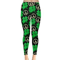Shamrock Peace Leggings  by CoolDesigns