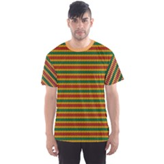 Orange Pattern In Rasta Colors Men s Sport Mesh Tee by CoolDesigns