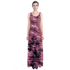 Red Tie Dye 2 Sleeveless Maxi Dress by CoolDesigns