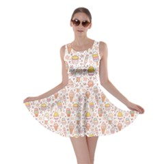 Colorful Yummy Ice Cream Pattern Skater Dress