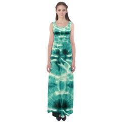 Turquoise Tie Dye 2 Empire Waist Maxi Dress by CoolDesigns