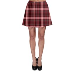 Red & Black Tartan Plaid Pattern Skater Skirt by CoolDesigns