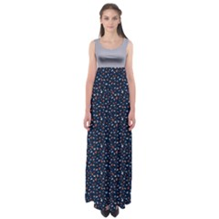 Navy Bird Floral Empire Waist Maxi Dress by CoolDesigns
