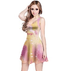 Pink Yellow Unicorn Reversible Sleeveless Dress