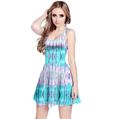 Aqua Tie Dye Reversible Sleeveless Dress by CoolDesigns