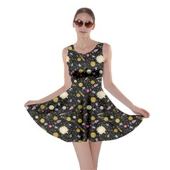 Space Yellow Skater Dress