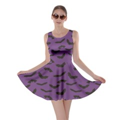 Purple Halloween Bats Skater Dress