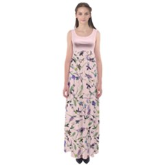 Pinky Floral Empire Waist Maxi Dress by CoolDesigns