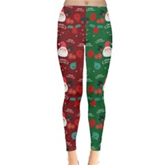 Green Red Santa Leggings  by CoolDesigns