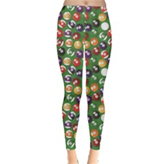Colorful Set Of Color Billiards Balls Pattern Leggings by CoolDesigns