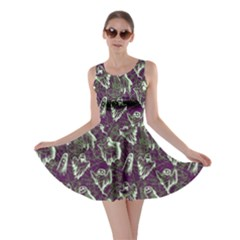 Dark Purple Ghost Halloween Skater Dress by CoolDesigns