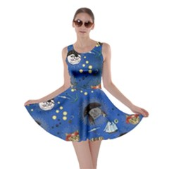Cat Pirate Blue Skater Dress by CoolDesigns