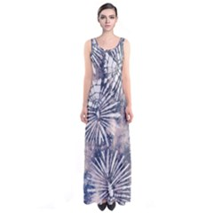 Dull Blue Tie Dye 3 Sleeveless Maxi Dress by CoolDesigns