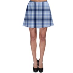 Blue Tartan Plaid Pattern Skater Skirt by CoolDesigns