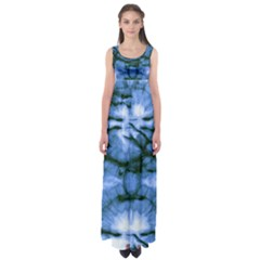 Blue Tie Dye 3 Empire Waist Maxi Dress by CoolDesigns