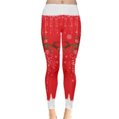 Red Deer Leggings  by CoolDesigns
