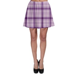 Purple Tartan Plaid Pattern Skater Skirt by CoolDesigns