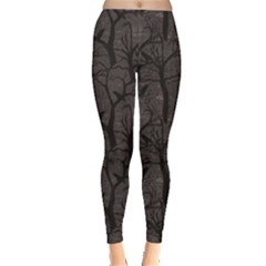 Black Pattern With Ravens Women s Leggings