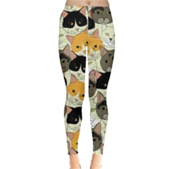 Cat Face Leggings  by CoolDesigns