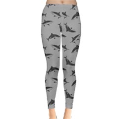 Gray Shark Leggings  by CoolDesigns