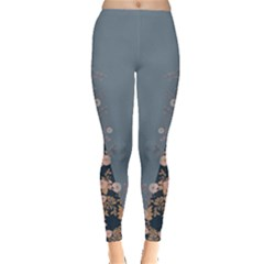 Navy & Blue Floral Leggings