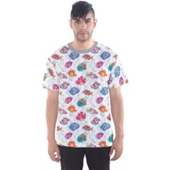Colorful Sea Pattern Tropical Fish Medusa Ocean Men s Sport Mesh Tee by CoolDesigns