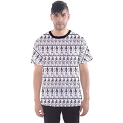 Black Egyptian Hieroglyphics Graphic Pattern Men s Sport Mesh Tee by CoolDesigns