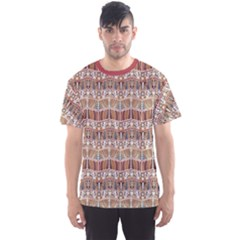 Brown Tribal Pattern In The African Style Men s Sport Mesh Tee by CoolDesigns