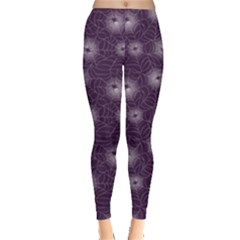Purple Purple Spider Web Pattern Repeats Seamlessly Women s Leggings