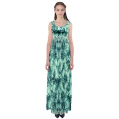Green Tie Dye Empire Waist Maxi Dress by CoolDesigns