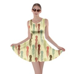 Colorful Cartoon Octopuses Pattern Skater Dress