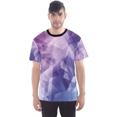 Colorful Iridescent Blue Purple And Pink Pattern Men s Sport Mesh Tee