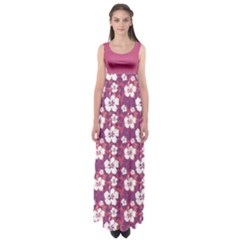 Violet Hawaii Empire Waist Maxi Dress by CoolDesigns