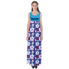 Blue Hawaii Empire Waist Maxi Dress by CoolDesigns