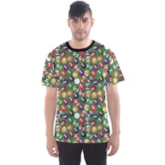 Colorful Set Of Color Billiards Balls Pattern Men s Sport Mesh Tee by CoolDesigns