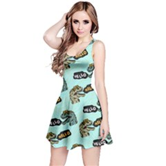 Mint Hello Dino Reversible Sleeveless Dress