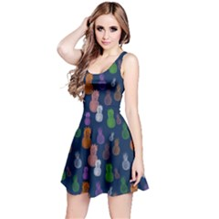 Pineapple Navy Reversible Sleeveless Dress by CoolDesigns