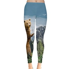 Bear In Mountain Leggings  by CoolDesigns