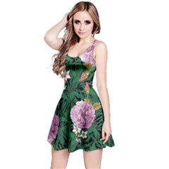 Green Floral Sleeveless Dress by CoolDesigns