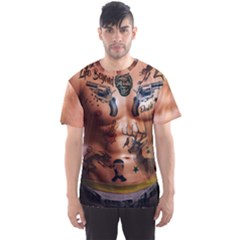 Faux Tattoo Men s Sport Mesh Tee by CoolDesigns