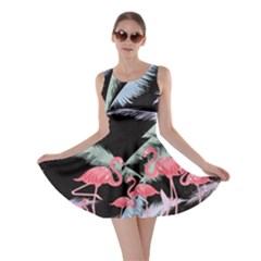 Flamingo Feather  Dark Flamingo V2 Skater Dress by CoolDesigns