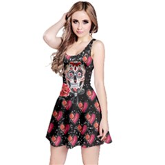 Heart Skull Reversible Sleeveless Dress by CoolDesigns